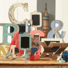 Make Market Alphabet Soup | Save 40% on eclectic surfaces, letters & frames!