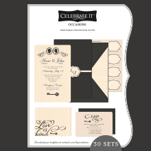 Wedding Templates - Celebrate it templates place cards