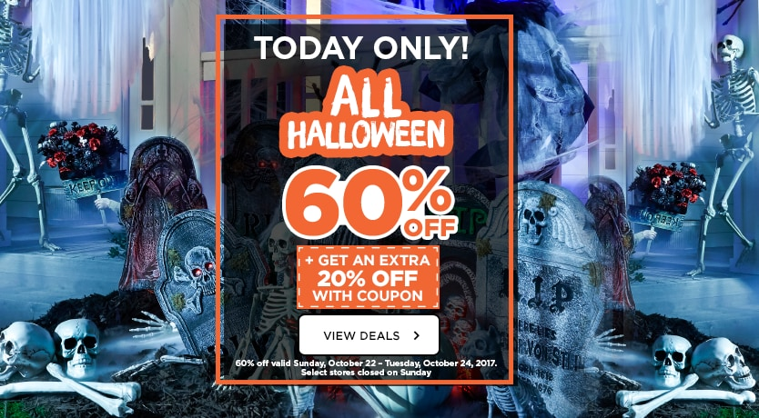 60% Off ALL Halloween + Get an Extra 20% Off