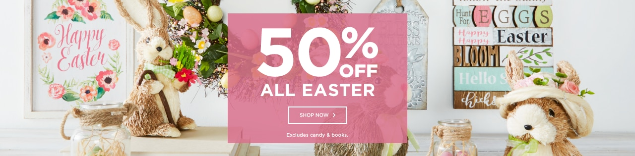 50% OFF ALL Easter