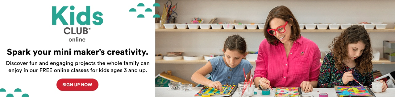 Spark your mini maker's creativity. Discover fun and engaging projects the whole family can enjoy in our FREE online classes for kids ages 3 and up. Sign up now