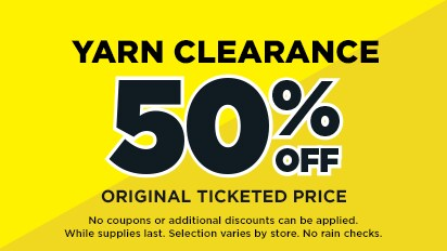 Yarn Clearance – 50% OFF Original Ticketed Price