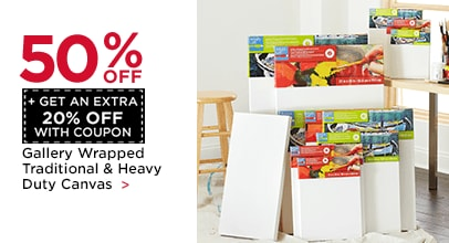 50% OFF + Get an Extra 20% with Coupon. Gallery Wrapped Traditional & Heavy Duty Canvas