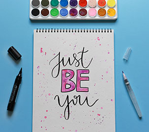 &quo;Just Be You&quo; Inspirational Quote