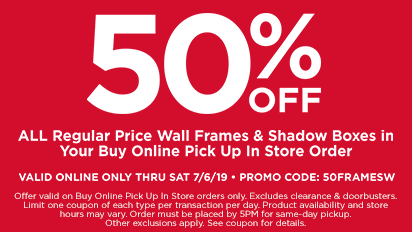 22eba9f1d 50% OFF All Regular Price Wall Frames & Shadow Boxes In Your Buy Online Pick