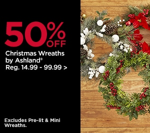 50% OFF Christmas Wreaths by Ashland