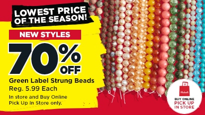 70% OFF Green Label Strung Beads