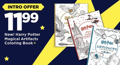 12.99 New! Harry Potter Magical Artifacts Coloring book