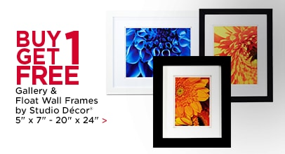 Buy 1 Get 1 Free Gallery & Float Wall Frames by Studio Décor