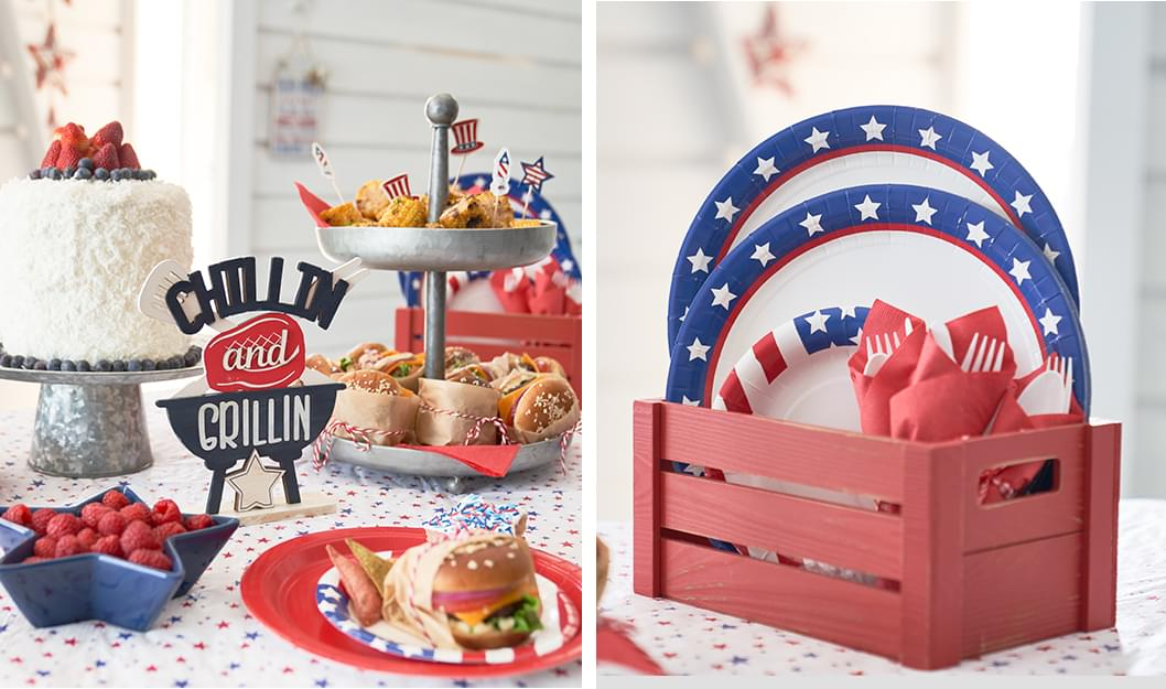 Red White & Blue Cookout Supplies