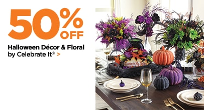 50% Off Halloween Decor & Floral