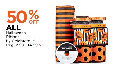 50% OFF ALL Halloween Ribbon by Celebrate It