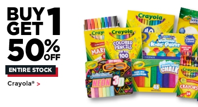 Buy One Get One 50% Off Entire Stock Crayola