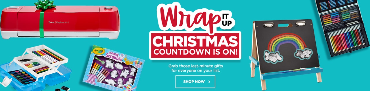 Wrap it Up Christmas Countdown. Grab those last-minute gifts for everyone on your list.
