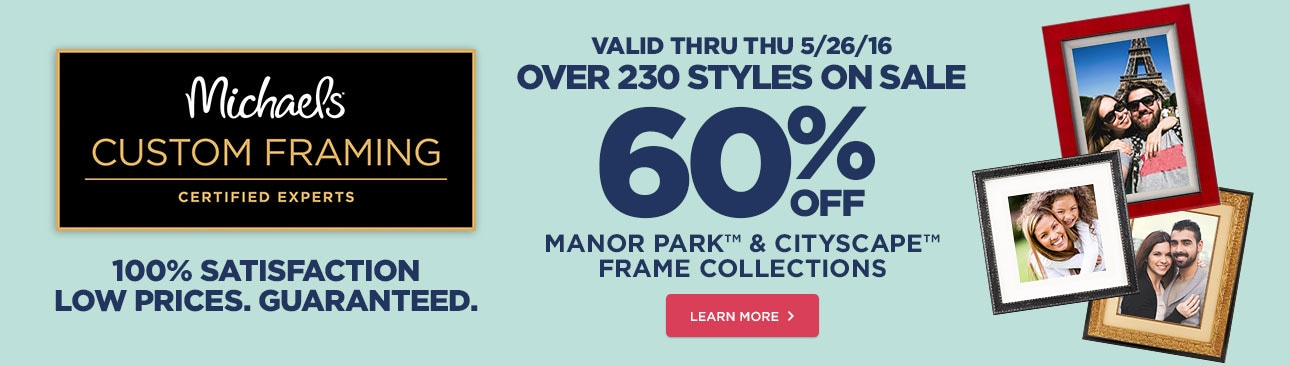 65% Off Manor Park™ & Cityscape™ Frame Collections