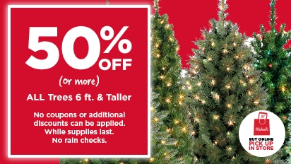 50% OFF All Trees or More