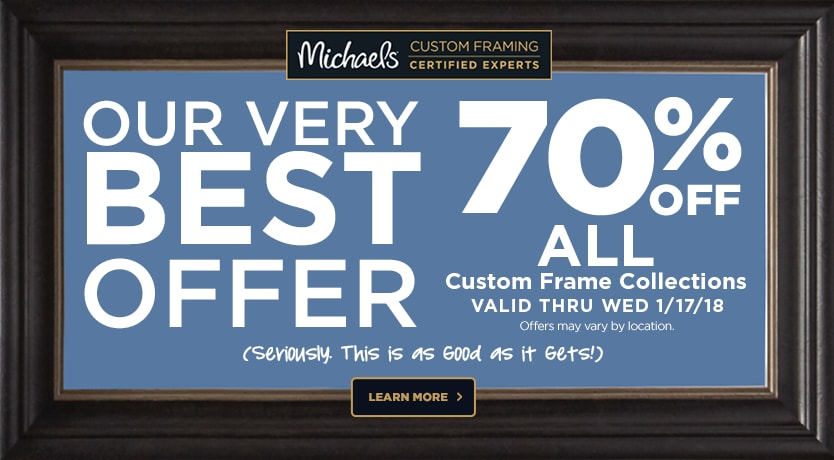 70% OFF Entire Custom Frame