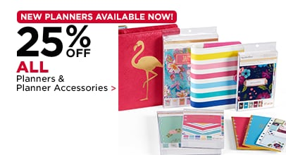 25% Off ALL Planners & Planner Accessories