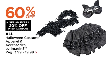 60% OFF + Get An Extra 20% OFF Halloween Costume Apparel & Accessories by Imagin8