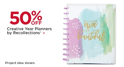 50% Off Creative Year Planners by Recollections