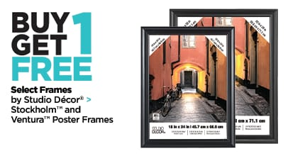 Buy One Get One Free Select Frames by Studio Decor