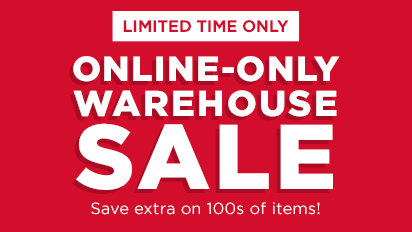 Get an Extra 20% off! Use Promo Code: WAREHOUSE20