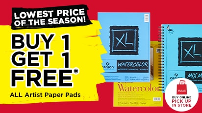 Lowest Prices of the Season! Buy One Get One Free ALL Artist Paper Pads