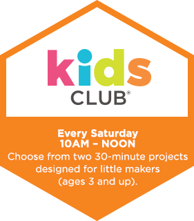 Kids Club! Saturday 10am - noon