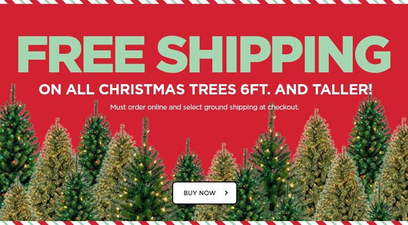 Free Shipping on Christmas Trees