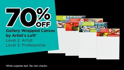 70% OFF Gallery Wrapped Canvas by Artist's Loft®
