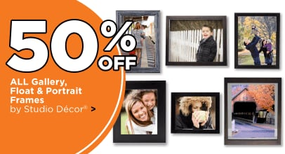 50% Off All Gallery Float & Portrait Frames By Studio Decor