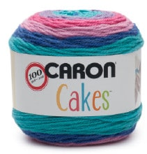 Creating uniquely beautiful striping is a 'piece of cake' wih Caron Cakes Yarn