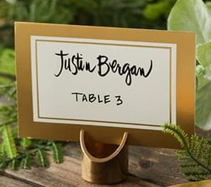 Table Numbers Place Card Holders