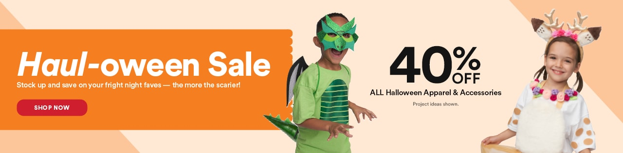 Haul-oween Sale  40% OFF ALL Halloween Apparel & Accessories Project ideas shown