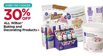 30% Off ALL Wilton Baking and Decorating Products