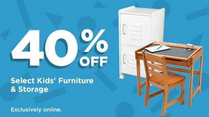 40% OFF Select Kids' Furniture & Storage