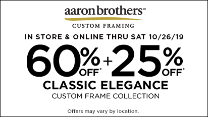 60% + 25% OFF Classic Elegance Custom Frame Collection