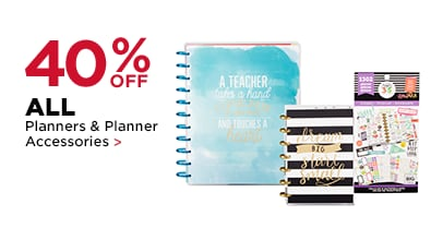 40% OFF Planners & Planners Accessories