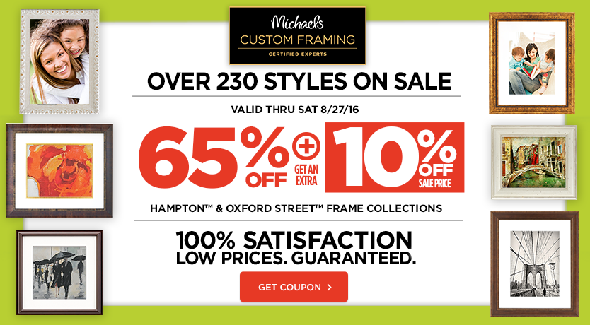 65% + 10% Off Hampton and Oxford Street Frame Collections