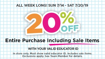 Just For Teacher: 20% OFF Entire Prichase Including Sale Items