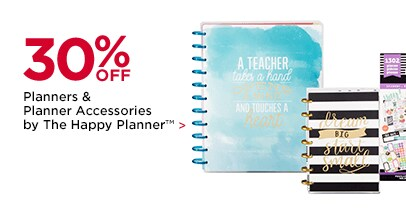 30% OFF Planners & Planner Accessories by The Happy Planner