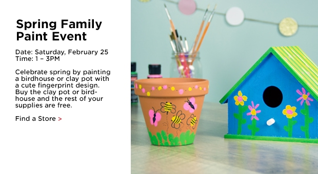 Spring Family Paint Event