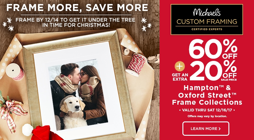 60% Off + 20% OFF Hampton & Oxford Custom Frame Collections