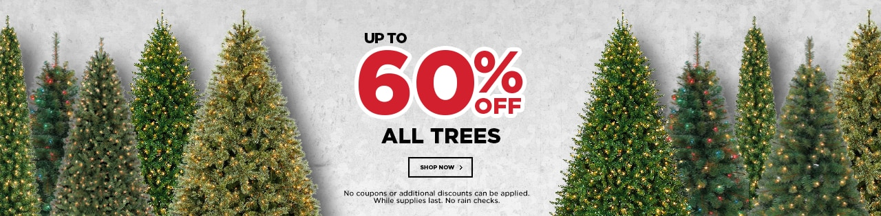 Up To 60% OFF All Trees