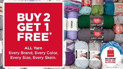 Buy Two Get One Free ALL Yarn