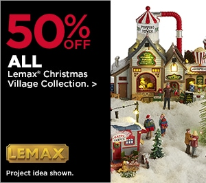 50% OFF ALL Lemax® Christmas Village Collection