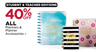 40% OFF ALL Planners & Planner Accessories