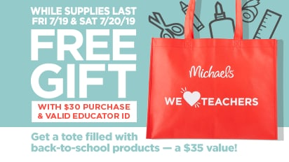 Get a Tote Filled with back-to-school products with your $30 in-store or Buy Online Pick Up In Store Purchase.
