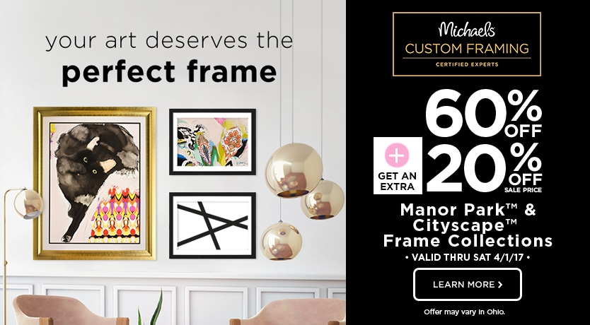 60% Off + 20% Off Manor Park & Cityscape Frame Collections
