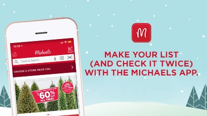 The Michaels App. Now with voice search: Download it today!
